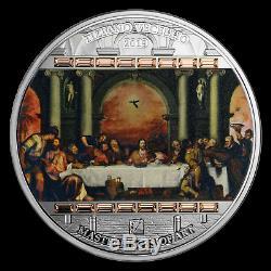 2019 Cook Islands 3 oz Silver Masterpieces of Art Last Supper SKU#198346