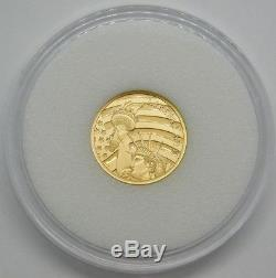 2019 Cook Islands $5.00 1/10 oz. 24 Fine Gold Statue Of Liberty Sealed Coin