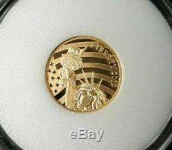 2019 Cook Islands $5.00 1/10 oz coin, Only 24% Gold, Proof Struck
