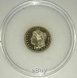 2019 Cook Islands $5 Morgan Liberty Head 1964 1/10 oz 24% Gold Proof Coin