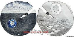 2019 Estacado Meteorite, $2 Cook Islands, Titanium Silver