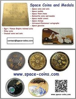 2019 Moon Landing, ONLY 99! Apollo Footprint, Meteorite, 1oz, 5$ Cook Islands