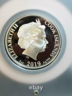 2019 Year of the Pig Cook Islands $25 5 oz Silver