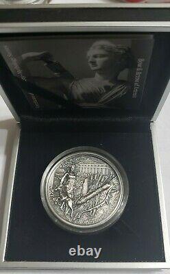 2020 2 Oz Silver $10 Cook Island ARTEMIS Bow And Arrow Mythology Coin