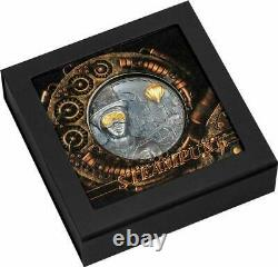 2020 $20 Cook Islands 3oz 999 Silver Coin STEAMPUNK withBox, COA & Capsule