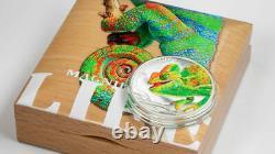 2020 $5 Cook Islands Mag. Life Chameleon 1oz Silver Proof Coin PCGS PR70 FDI