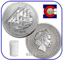 2020 Cook Island Bounty Sailing Ship 1 oz Silver Coin - roll/tube of 20 Coins