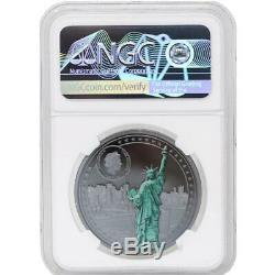 2020 Cook Island MISS LIBERTY (PF70) 1oz Ultra Cameo Silver Coin
