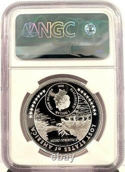 2020 Cook Islands $1 Lost States of America McDonald 1 oz Silver Coin NGC PF 70