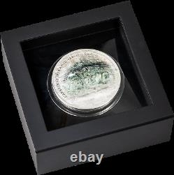 2020 Cook Islands $25 Silver Carstensz Pyramid 7 Summits Series Proof Coin