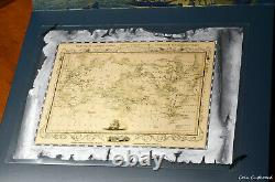 2020 Cook Islands $5 Captain Cook's Discoveries Map Foil. 999 Silver