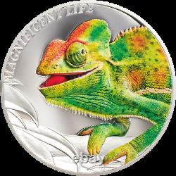 2020 Cook Islands $5 Magnificent Life Chameleon 1 oz 999 Silver Coin 999 Made