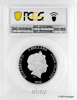 2020 Cook Islands $5 Vinales Meteorite High Relief 1oz Silver PCGS PR69DCAM