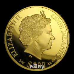 2020 Cook Islands 5 oz Gold Mother of Pearl Year of the Rat SKU#191302