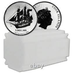 2020 Cook Islands Silver Bounty Sailing Ship 1 oz $1 BU 20 Coin Mint Tube