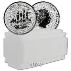 2020 Cook Islands Silver Bounty Sailing Ship 2 oz $2 BU 10 Coin Mint Tube