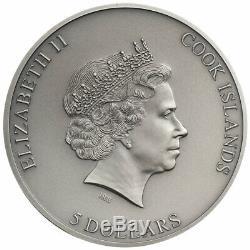 2020 Cook Islands Trapped II HR 1 oz Silver Antiqued $5 Coin GEM BU OGP SKU61093