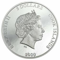 2020 Cook Islands Vinales Meteroite Ultra High Relief 1 oz Silver Proof $5 OGP