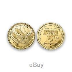 2020 First-Year-Of-Issue. 24 Pure Gold Double Eagle $5 Coin