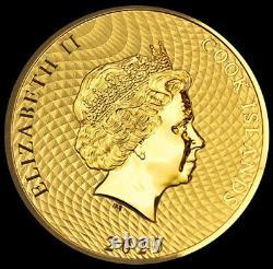 2020 Gold 1/10 oz Cook Islands $10 Dollar HMS Bounty Ship Coin Brilliant UNC+