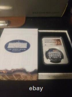 2020 PF70 White House Burning 1 oz. 999 Silver Cook Island Only 1,600 minted