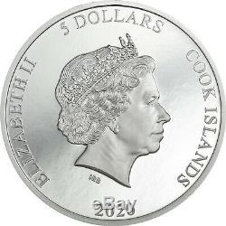 2020 Viñales Vinales Meteorite Impacts Silver Coin Ultra High Relief Cook Island