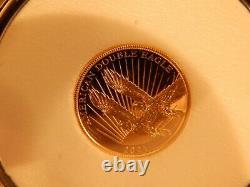 2021 $5.00 Double Eagle Gold Coin COA MINT NEW