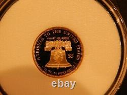 2021 $5.00 Gold Liberty Double Eagle. 24 Pure 1/10 oz Coin COA