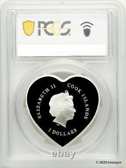 2021 $5 Cook Islands Happy Valentine's Day 20g Silver Proof Coin PCGS PR69 FDI