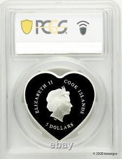 2021 $5 Cook Islands Happy Valentine's Day 20g Silver Proof Coin PCGS PR70 FDI