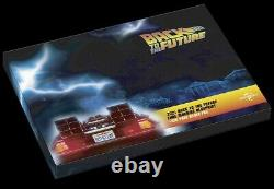 2021 Back to the Future Delorean Blueprint Large 35g Silver Foil Poster 588 Made