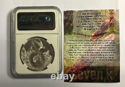 2021 Cook Is. 1oz Silver Animal State Series -New York-Beaver NGC MS70 7K Label