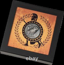 2021 Cook Islands $5 Athena's Owl 1 oz. 999 Silver Antiqued Coin 999 Made