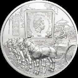 2021 Cook Islands $5 Terracotta Warriors 1 oz. 999 Silver Coin NGC PF 70 UCAM
