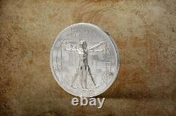 2021 Cook Islands $5 Vitruvian Man X-Ray 1 oz. 999 Silver Coin 999 Made