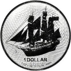 2021 Cook Islands Silver Bounty Sailing Ship 1 oz $1 BU 20 Coin Mint Tube