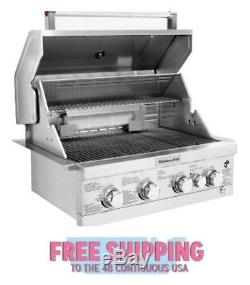4-Burner Built-in Propane Gas Island Cooking Grilling Stainless Steel Rotisserie