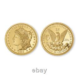 5$ Cook Islands 1964 Morgan 1/10th oz. 24(%) Pure Gold Coin/. 76(%) Copper +COA