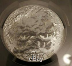 7 Summits Mt. Denali 2016 Cook Ultra High Relief 5 Oz Silver Coin Pcgs Ms69