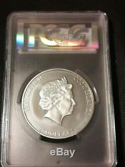 7 Summits Mt Everest 2017 Cook Island 5 Oz Silver Coin Pcgs Ms69