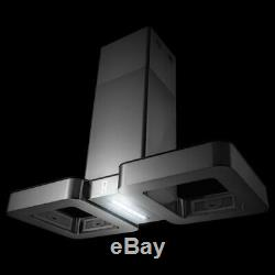 AKDY 38 299 CFM Ducted Kitchen Island Cooking Range Hood Touch Control
