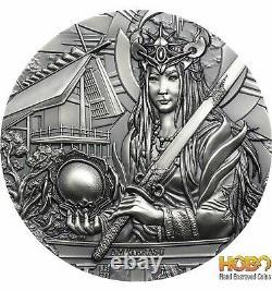AMATERASU Gods Of The World 3 Oz Silver Coin 20$ Cook Islands 2021