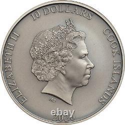 ARTEMIS BOW & ARROW Silver Piedfort Coin Cook Islands 2020