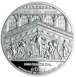 BULLSEYE NYSE 2021 CAMEROON 1oz SILVER PROOF COIN 1000 FRANCS