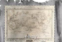 CAPTAIN COOK MAP SHAPED Foil Silver Note 5$ Cook Islands 2020