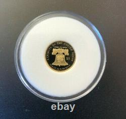 COOK ISLAND $5 1/10 oz. 24 PURE GOLD COIN RARE LADY LIBERTY DESIGN