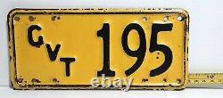 COOK ISLANDS 1951 series GOVERNMENT car / motorcycle license plate RARE one