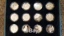 COOK ISLANDS 1991 $50 proof silver coins Endangered Wildlife