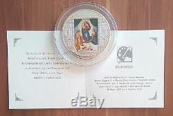 Cook Islands Sanzio 2009 Masterpieces Of Art Sistine Madonna 3 Oz + Box