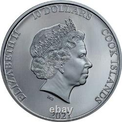 Classic Car Open Roads 2 oz black proof silver coin Cook Islands 2021